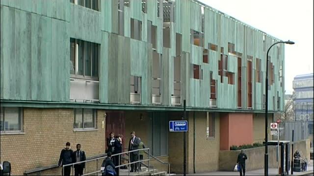 stockvideo's en b-roll-footage met lord fink admits 'vanilla' tax avoidance england london haverstock school ext **miliband speech overlaid sot** general view of haverstock school... - bare tree