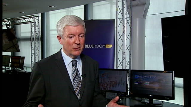 stockvideo's en b-roll-footage met lord hall sets out his plans for the bbc: interview; lord hall interview sot - licence fee payers come closer to the organisation and feel like... - 40 seconds or greater