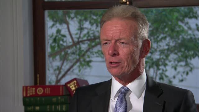 lord hoganhowe calls for review into cannabis laws england london int lord hoganhowe interview sot - ラゲ オマール点の映像素材/bロール