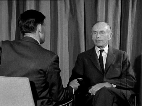lord home interview; england: london: lap : ext lord home interview sof - alec douglas home video stock e b–roll
