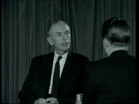 lord home interview; england: london: lap : int lord home interview sof - alec douglas home video stock e b–roll