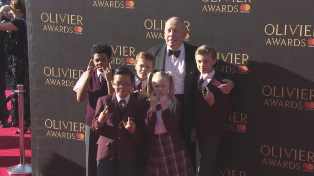 lord julian fellowes school of rock cast at the olivier awards with mastercard on april 09, 2017 in london, england. - julian fellowes stock videos & royalty-free footage