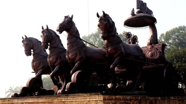 Lord Krishna & Arjuna statue in the Kurukshetra.
