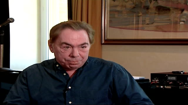 lord lloyd webber defends amy winehouse after fans boo her andrew lloyd webber interview sot on winehouse's birmingham gig / the question is is she... - andrew lloyd webber stock videos & royalty-free footage