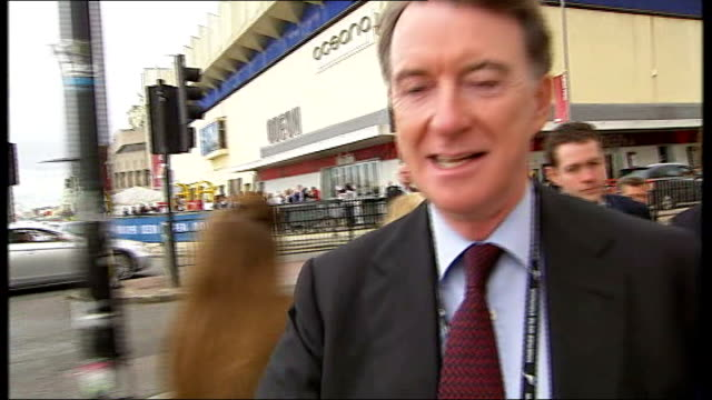 lord mandelson along as asked about allegation that he used c swear word in telephone conversation with rebekah brooks and mandelson claiming he used... - レベッカ ブルックス点の映像素材/bロール