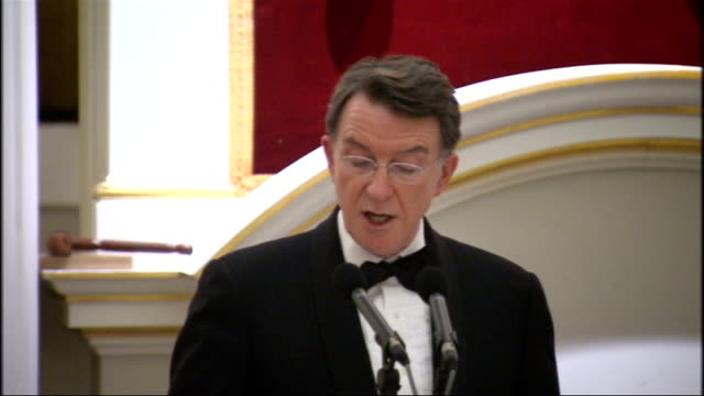 lord mandelson mansion house speech lord mandelson speech sot for that reason i welcome last week's decision of the takeover panel to consult on the... - kraft stock videos & royalty-free footage