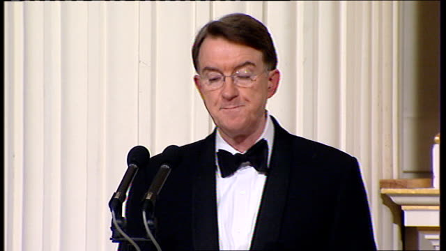 lord mandelson speech; mandelson speech sot - without closing our markets and while safeguarding the taxpayers long term value for money. others ask... - out of context stock videos & royalty-free footage