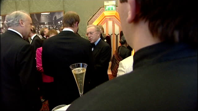 lord mayor sporting heroes dinner more general views of guests chatting including sir david frost and lady carina frost prince william sir tim rice... - david frost broadcaster stock videos and b-roll footage
