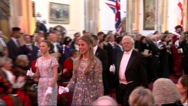 Lord Mayor's Banquet Guests mingling and procession Various of Theresa May and Philip May Welby Charles Bowman and Samantha Bowman Parmley at Lord...
