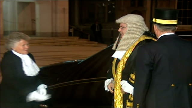 lord mayor's banquet held at london's guildhall arrivals and procession ext / night rowan williams arriving and along on red carpet / lord falconer... - chancellor stock videos & royalty-free footage