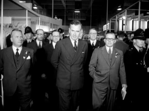 lord mountbatten is shown around the national radio show at earls court. - earls court stock videos & royalty-free footage