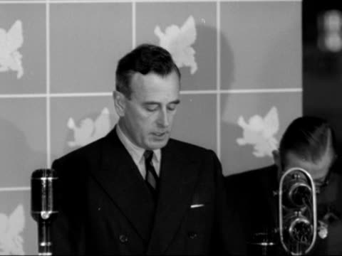 lord mountbatten makes a speech at the opening of the national radio show at earls court. - earls court stock videos & royalty-free footage