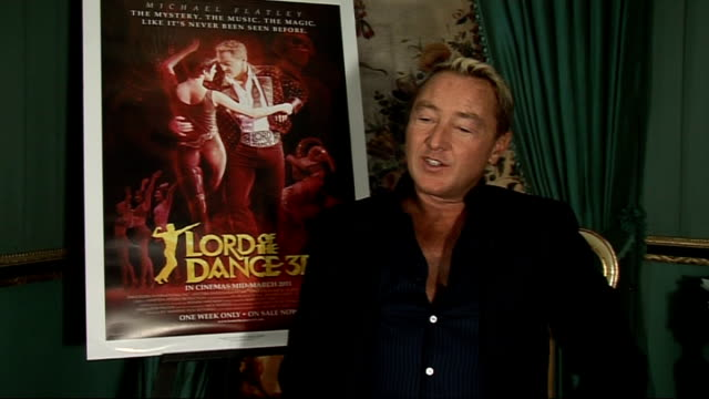england london int michael flatley interview sot on importance of 3d for film like being at the live show hope to attract a whole new audience on... - world record stock videos & royalty-free footage