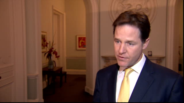 nick clegg interview england london int nick clegg mp interview sot - クリス・レナード点の映像素材/bロール