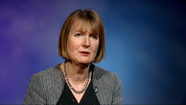 harriet harman interview england london int harriet harman mp interview sot - クリス・レナード点の映像素材/bロール