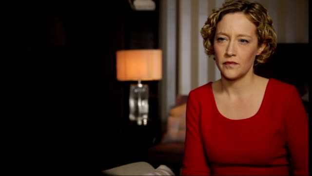 nick clegg denies coverup t22021312 / tx location unknown setup shots of anonymous woman with cathy newman - channel 4 news stock videos and b-roll footage