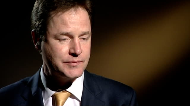 nick clegg interview england hampshire portsmouth int nick clegg mp interview sot re why should people vote lib dem in this byelection we have a... - violenza sessuale video stock e b–roll