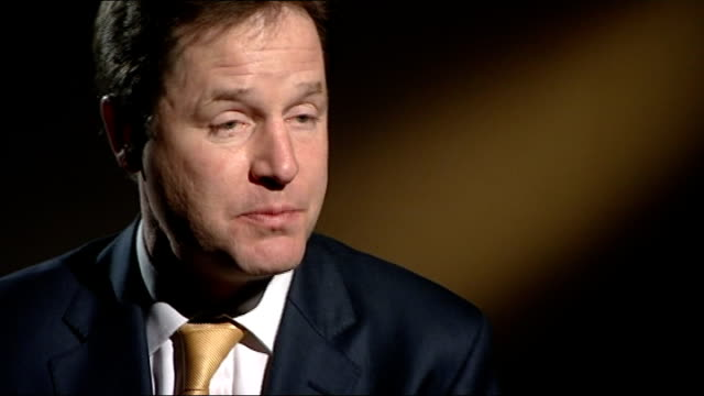 police looking at formal complaints hampshire nick clegg interview sot i've no doubt that lessons will need to be learned/ i spoke to one of the... - クリス・レナード点の映像素材/bロール