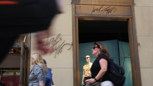 lord taylor iconic flagship store on manhattan's upscale 5th avenue in new york city new york us on wednesday june 6 2018 - flagship store stock videos and b-roll footage