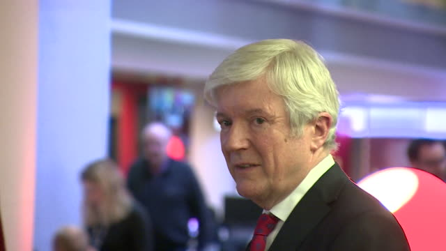 lord tony hall, bbc director general, at staff leaving party on the day he announced his resignation from the bbc - bbc stock videos & royalty-free footage