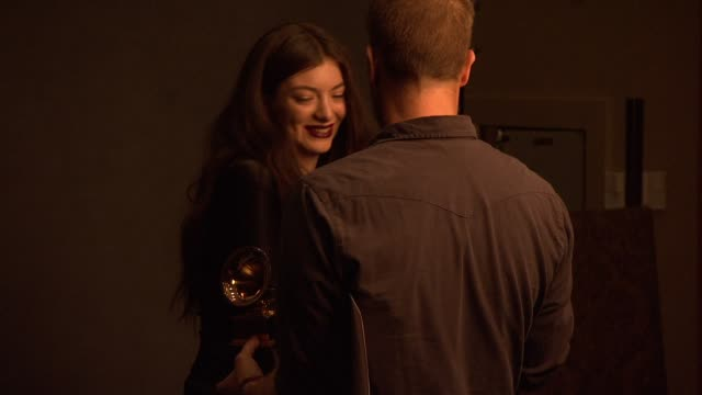 lorde at 56th annual grammy awards press room at staples center on in los angeles california - staples centre stock videos & royalty-free footage