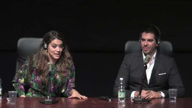 INTERVIEW Lorenza Izzo and Eli Roth on filming in Amazonia with natives at The Green Inferno' Press Conference on November 12 2013 in Rome Italy