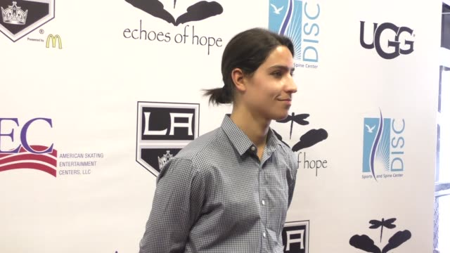 vídeos y material grabado en eventos de stock de lorenzo henrie at the luc robitaille celebrity shootout at toyota sports center in el segundo at celebrity sightings in los angeles on march 20 2016... - toyota sports center