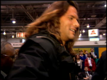stockvideo's en b-roll-footage met lorenzo lamas at the natpe convention on january 25, 1995. - natpe convention