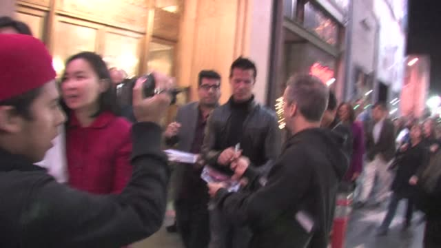 vídeos de stock e filmes b-roll de lorenzo lamas at the pantages theater in hollywood on 12/1/2011 - pantages theater