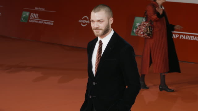 lorenzo richelmy at 'una questione privata' red carpet rome film fest on october 27 2017 in rome italy - rome film fest stock videos and b-roll footage