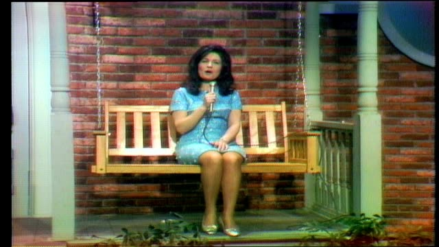 "loretta lynn performs ""i still miss someone"" . buddy spicher plays fiddle. - country and western stock videos & royalty-free footage"