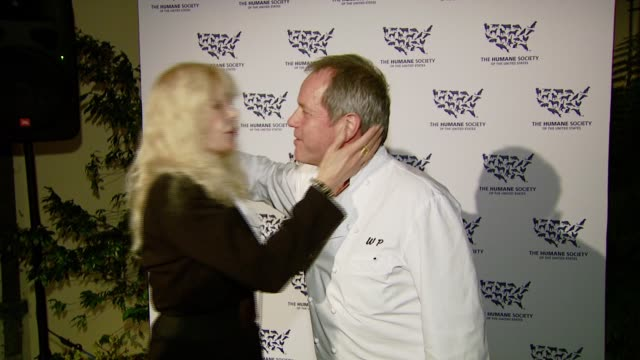 loretta swit and wolfgang puck at the 'hollywood goes humane - celebrating the humane society of the united states' at private residence in... - wolfgang puck stock videos & royalty-free footage