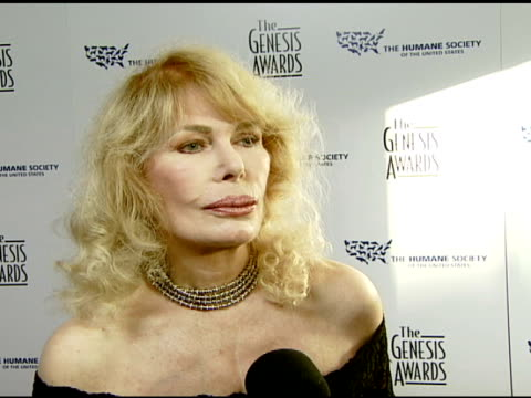 Loretta Swit on the event and why she is passionate about the cause at the 2008 Genesis Awards at the Beverly Hilton in Beverly Hills California on...