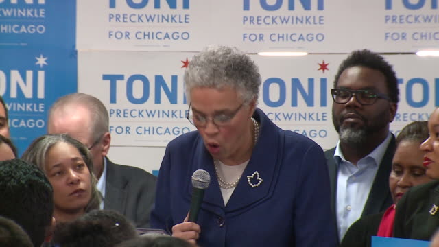 lori lightfoot and toni preckwinkle both advanced on february 26 to the chicago runoff election after lightfoot won 17.5 percent of the vote and... - runoff election stock videos & royalty-free footage