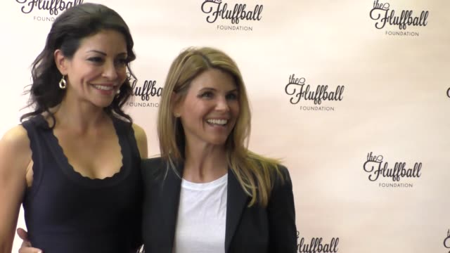Lori Loughlin and Emmanuelle Vaugier at The Fluffball Foundation's 2015 Fluffball at The Little Door in Los Angeles at Celebrity Sightings in Los...