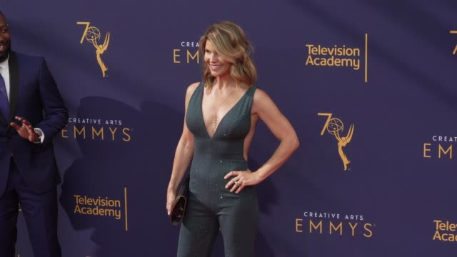 lori loughlin at the 2018 creative arts emmy awards day 1 at microsoft theater on september 08 2018 in los angeles california - lori loughlin stock videos & royalty-free footage