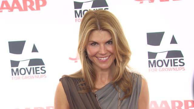 lori loughlin at the aarp the magazine's 10th annual movies for grownups awards at beverly hills ca - lori loughlin stock videos & royalty-free footage