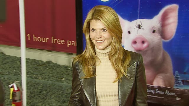 lori loughlin at the 'charlotte's web' los angeles premiere at arclight cinemas in hollywood california on december 10 2006 - lori loughlin stock videos & royalty-free footage