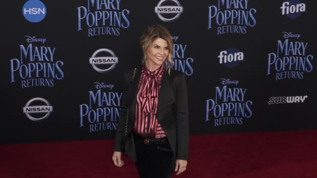 lori loughlin at the disney's mary poppins returns world premiere at dolby theatre on november 29 2018 in hollywood california - lori loughlin stock videos & royalty-free footage