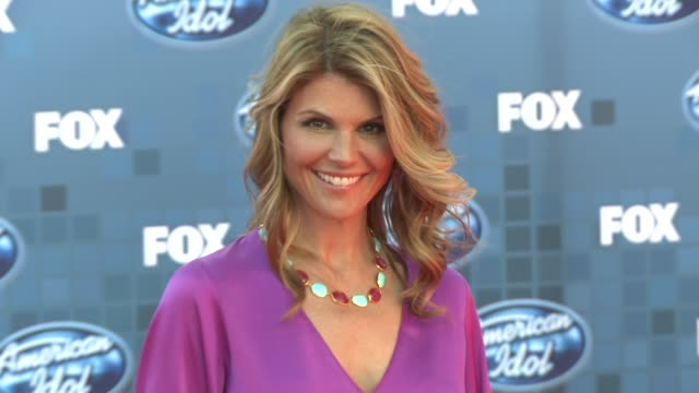 lori loughlin at the fox's 'american idol 2011' finale results show at los angeles ca - american idol stock videos and b-roll footage