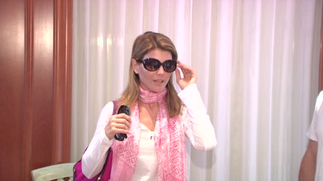 lori loughlin at the monte carlo television festival 2009 - day 2 - gift lounge at monaco . - day 2 stock videos & royalty-free footage