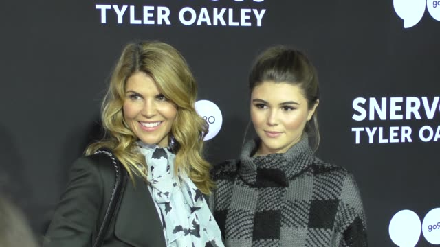 lori loughlin at the snervous tyler oakley premiere at bruin theatre in westwood in celebrity sightings in los angeles - lori loughlin stock videos & royalty-free footage