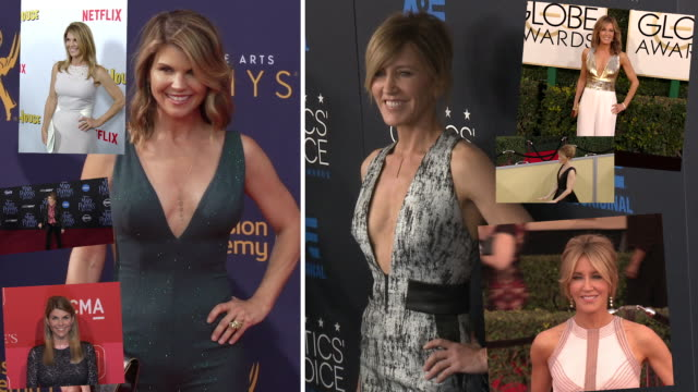 Lori Loughlin Felicity Huffman on the red carpet