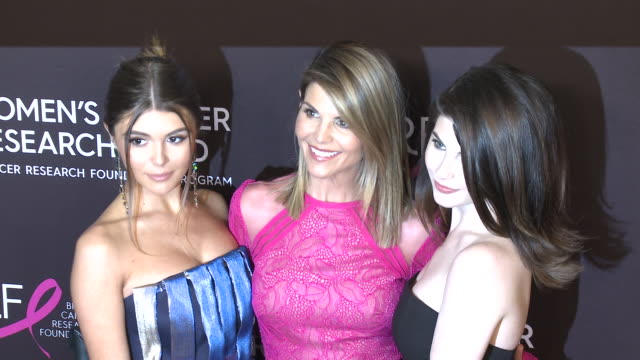 "lori loughlin isabella rose giannulli olivia jade giannulli at wcrf's ""an unforgettable evening"" - jade stock videos & royalty-free footage"