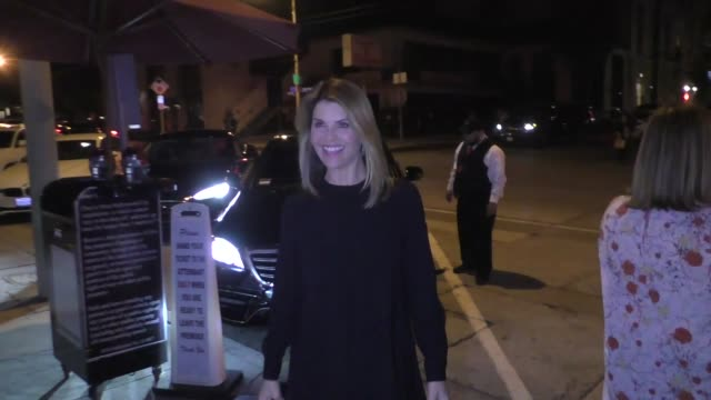 lori loughlin joins a friend for dinner at craig's in west hollywood in celebrity sightings in los angeles - lori loughlin stock videos & royalty-free footage