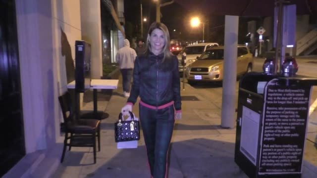 lori loughlin joins husband mossimo giannulli for a dinner date at craig's in los angeles in celebrity sightings in los angeles - lori loughlin stock videos & royalty-free footage