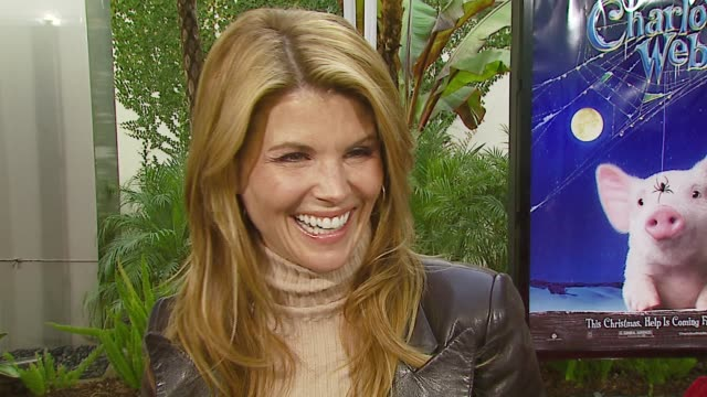 Lori Loughlin on attending the premiere if she's had a friend come to the rescue her new TV project her New Year's resolution at the 'Charlotte's...