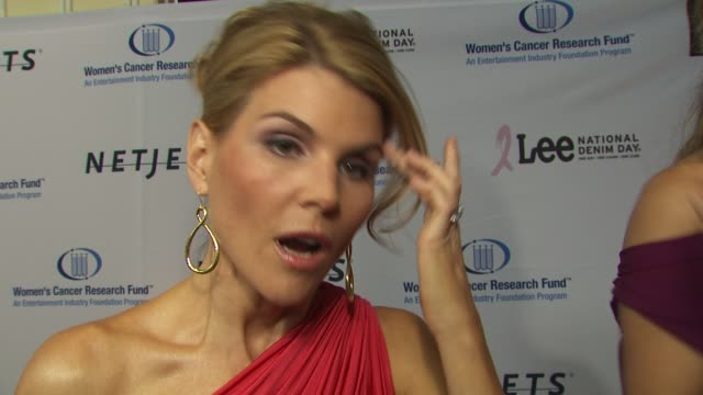 lori loughlin on being a part of the night why she chose to get involved in the fight against women's cancer how she feels about christina... - lori loughlin stock videos & royalty-free footage
