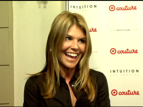 lori loughlin on being married to mossimo who designs for target on knowing jaye hersh from intuition at the launch the target couture collection by... - jaye hersh stock videos and b-roll footage