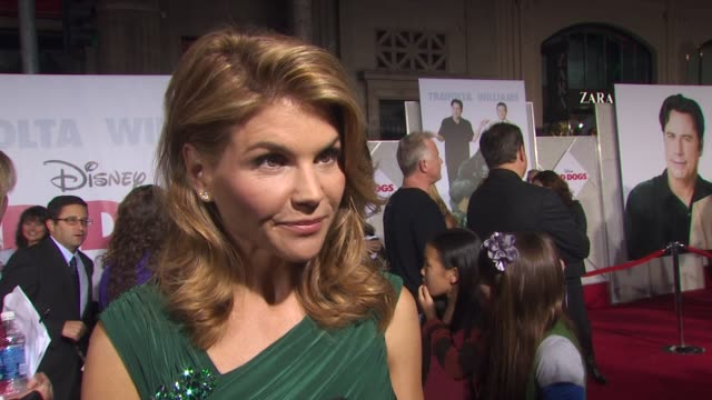 lori loughlin on if she was afraid to become a mom on robin and john's chemistry and improv on the set at the 'old dogs' premiere at hollywood ca - vignette stock videos & royalty-free footage